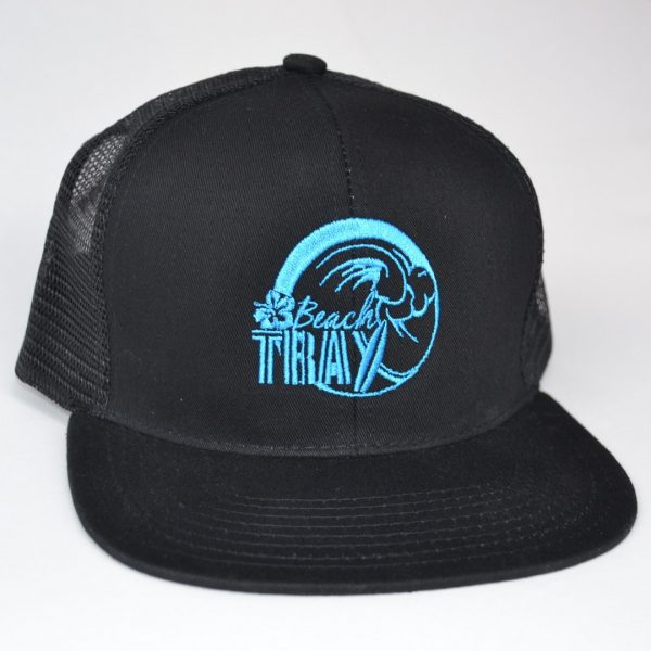 Beach Trax Trucker Hat - color black blue