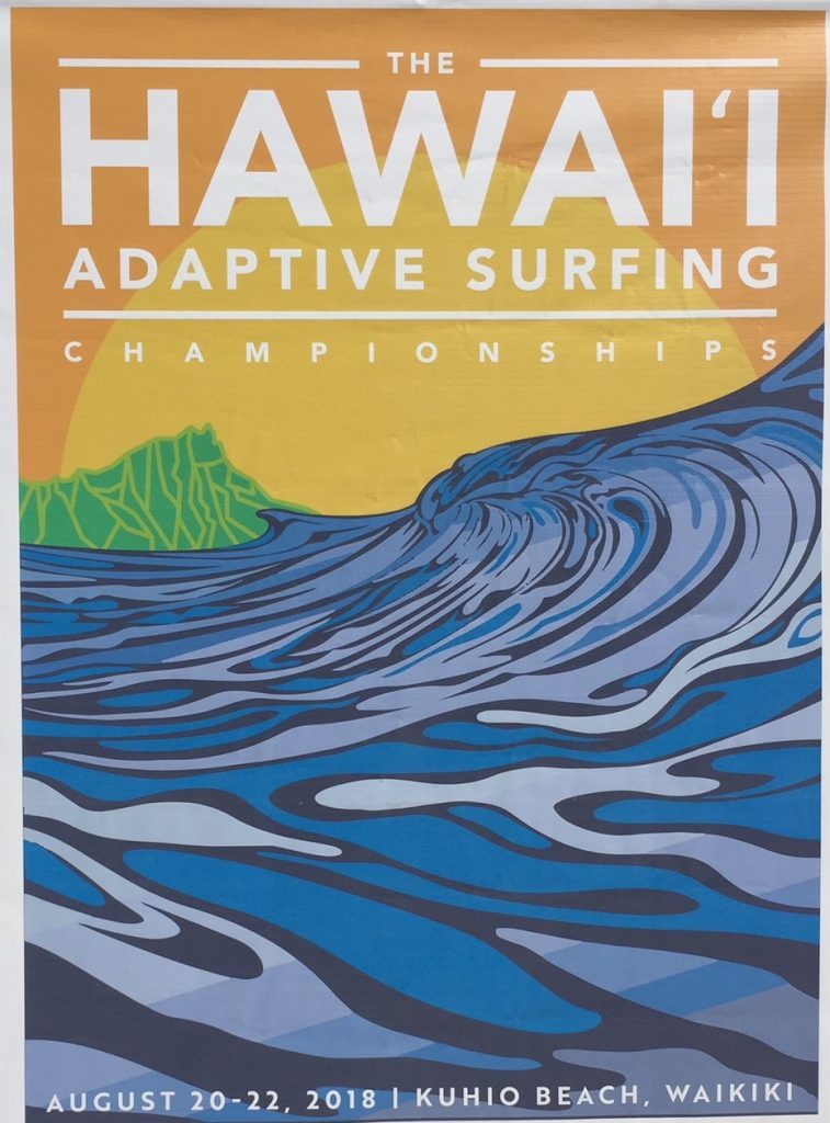 Beach Trax Hawaii Adaptive Surfing 2018 banner