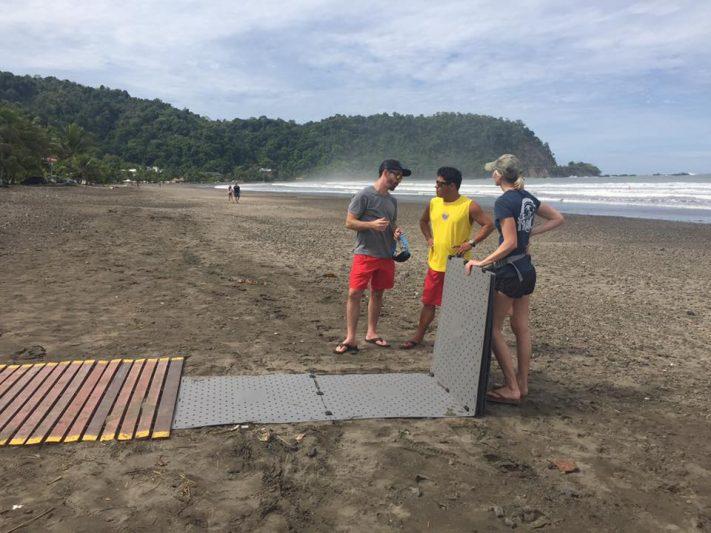 non permanent beach pathways