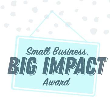 Logo for Small Business, Big Impact Award