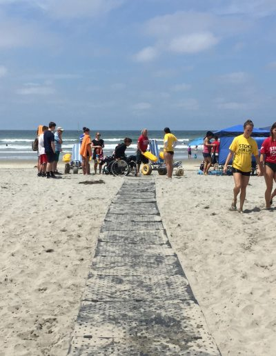 Beach Trax provided all with easy access to the event staging area.