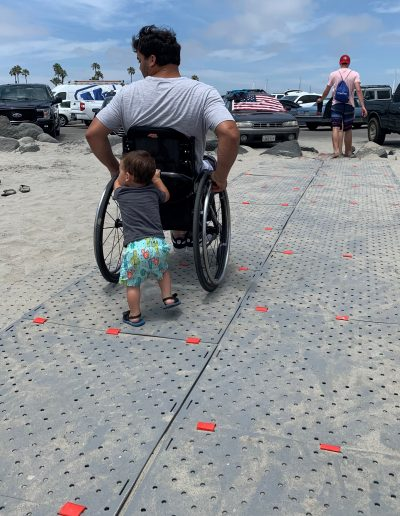 Beach Trax provides a smooth passage for people of all ages & mobility.